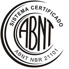 Certificação reconhecida pelo Sistema Certificado ABNT